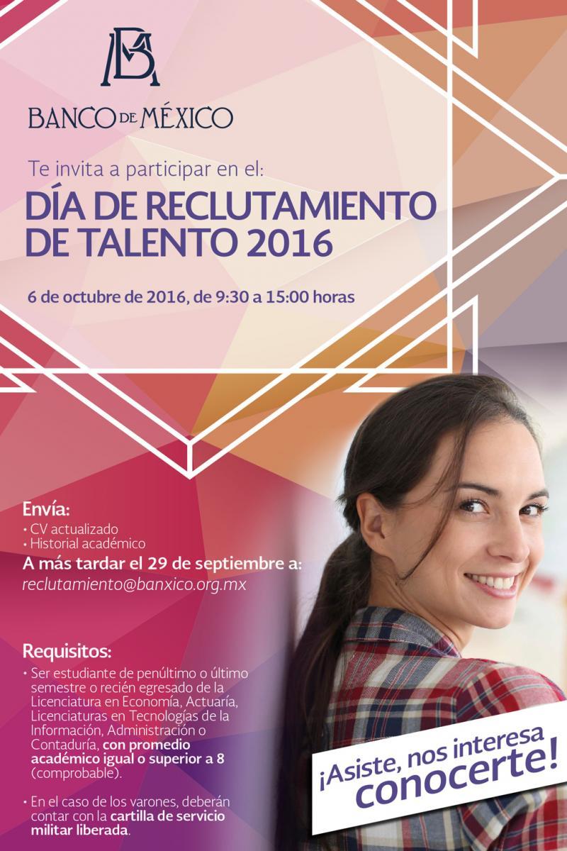 d u00eda de reclutamiento de talento en banco de m u00e9xico